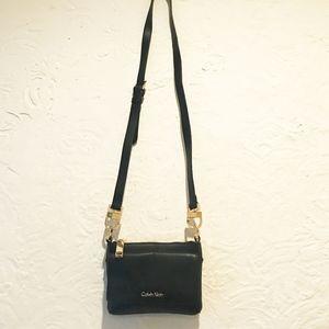 Calvin Klein Black Leather Crossbody